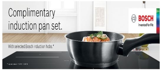Bosch PIE845BB1E Induction Hob***COMPLIMENTARY PAN SET WITH THIS HOB*** top banner
