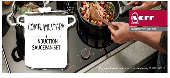 Neff T56FD50X0 Induction Hob***COMPLIMENTARY PAN SET WITH THIS HOB*** top banner